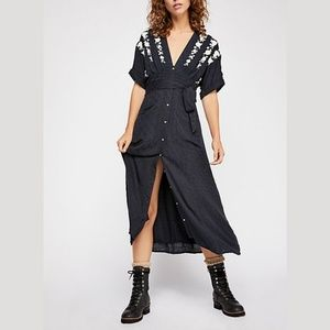 Free People Love To Love You Midi Dress Onyx M